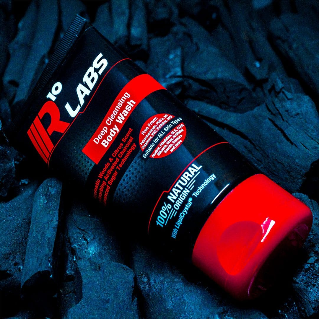 R10 Labs Body Wash Activated Charcoal