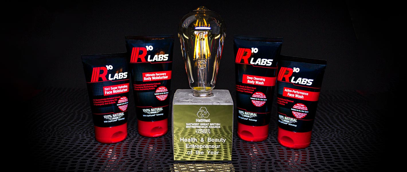 R10 Labs Natwest Great British Entrepreneur Awards Health and Beauty Entrepreneur of The Year 2019